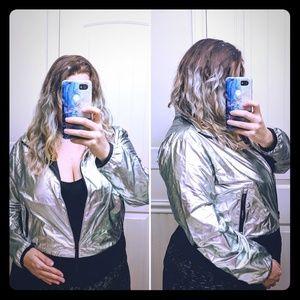 Reebok Metallic Silver Jacket 💮 L